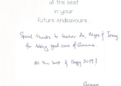 From Gemma Testimonial